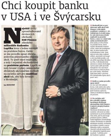 Rozhovor sRadomíre Lapčíkem vE15