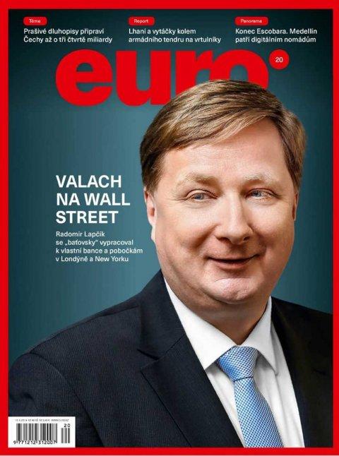 Radomír Lapčík natitulní straně týdeníku Euro
