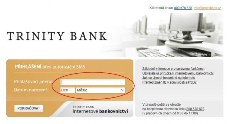 Nový způsob přihlášení dointernetového bankovnictví